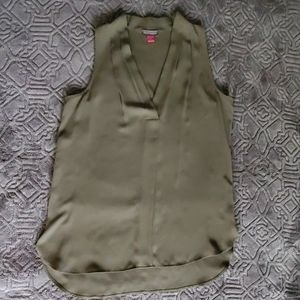 Vince Camuto Sleeveless Olive Top
